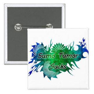 Sumo Tumor Sucks Square Badge Pin