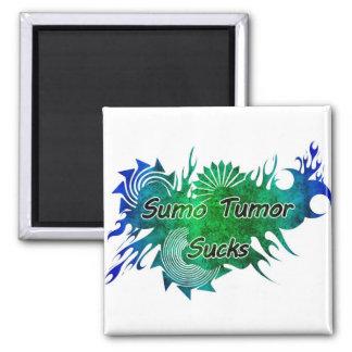 Sumo Tumor Sucks Square Magnet