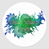 Sumo Tumor Sucks Stickers
