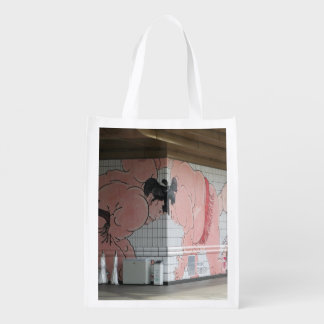 Sumo Wall Art Grocery Bags