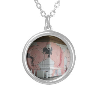 Sumo Wall Art Silver Plated Necklace