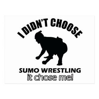 sumo wrestle design postcard
