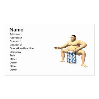 Sumo Wrestler 2 Business Card Templates