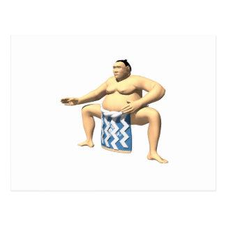 Sumo Wrestler 2 Postcard