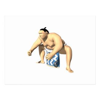 Sumo Wrestler 3 Postcard