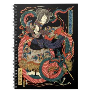 Sumō Wrestler & Dragon - Notebook
