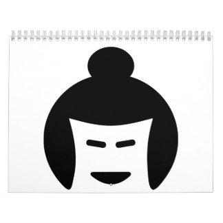 Sumo wrestler face calendar