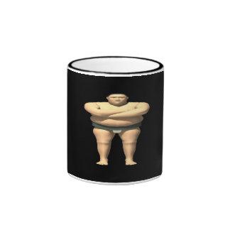 Sumo Wrestler Ringer Coffee Mug