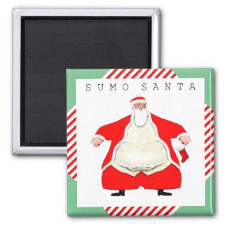 Sumo Wrestler Santa Magnet