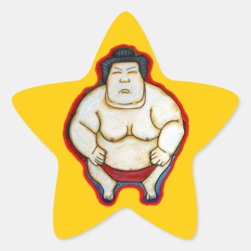 Sumo Wrestler Star Sticker