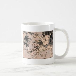 Sumo Wrestlers, Circa 1800's. Japan. Coffee Mugs