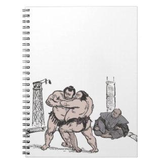 Sumo Wrestlers Spiral Notebook