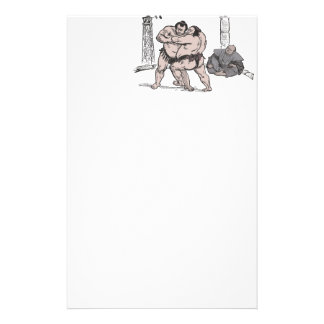 Sumo Wrestlers Stationery Design