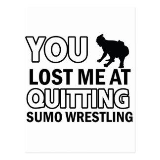 Sumo Wrestling designs Postcard