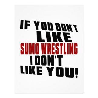 SUMO WRESTLING DON'T LIKE DESIGNS LETTERHEAD