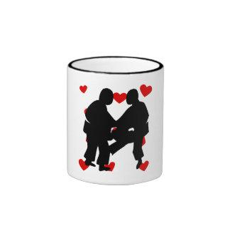 Sumo Wrestling Hearts Mug