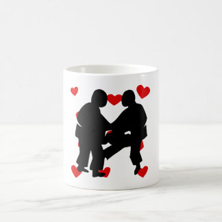 Sumo Wrestling Hearts Coffee Mug