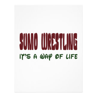 Sumo Wrestling It's a way of life Letterhead