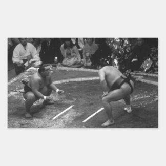 SUMO Wrestling Rectangular Sticker