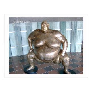 Sumo Wrestling Sculpture, Japan Postcard