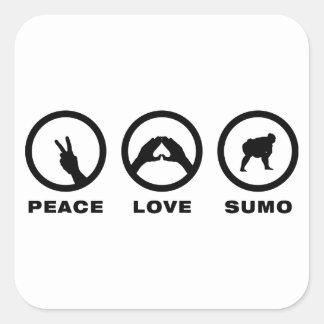 Sumo Wrestling Square Sticker