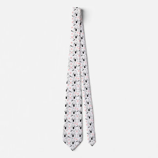 Sumo's and Cherry Blossoms men's tie