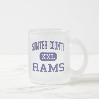 Sumter County - Rams - High - Americus Georgia Frosted Glass Coffee Mug
