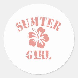 Sumter Pink Girl Classic Round Sticker