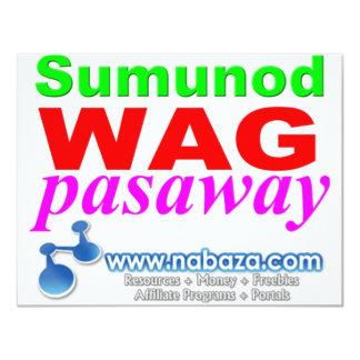 Sumunod Wag Pasaway 4.25x5.5 Paper Invitation Card