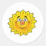 Sun 01 etiqueta redonda