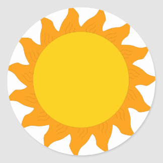sun[1] classic round sticker