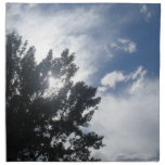 Sun a través de las nubes servilletas de papel