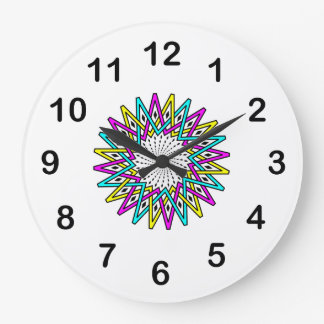 Sun abstract illustration large clock