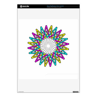 Sun abstract illustration skin for the PS3 slim