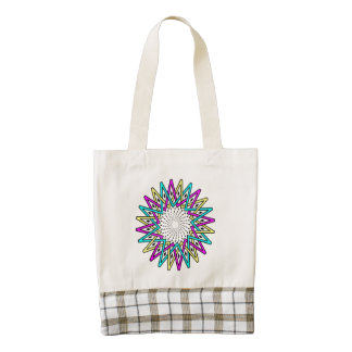 Sun abstract illustration zazzle HEART tote bag