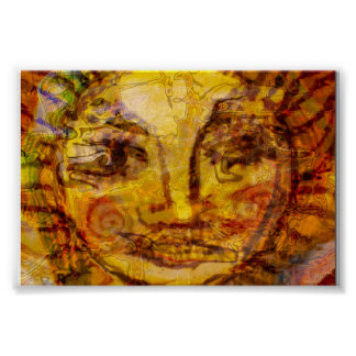 Sun Abstract Poster
