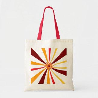 Sun abstracto bolsa tela barata