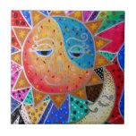 Sun abstracto y luna por Prisarts Azulejos Cerámicos