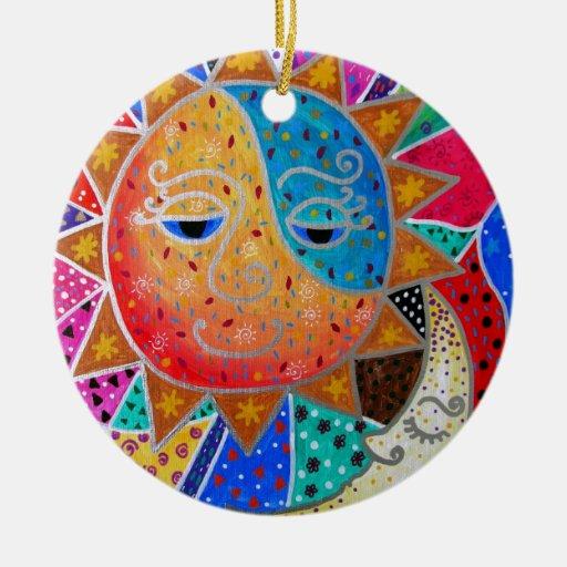 Sun abstracto y luna por Prisarts Ornamentos Para Reyes Magos