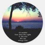Sun Always Rises Classic Round Sticker