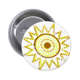 Sun amarillo en recorte del Grunge de las luces Pins