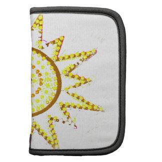 Sun amarillo en recorte del Grunge de las luces Organizadores