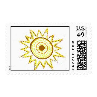 Sun amarillo en recorte del Grunge de las luces Envio