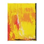 Sun amarillo limón impresión de lienzo