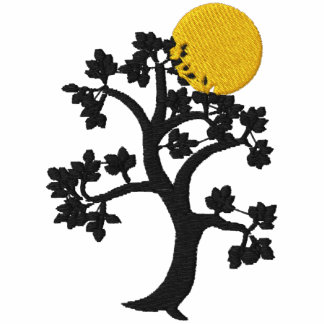 Sun amarillo y el árbol de la vida bordaron sudade