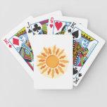 Sun anaranjado baraja cartas de poker