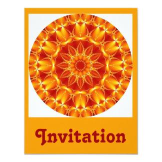 """Sun anaranjado invitación 4.25"""" x 5.5"""""""