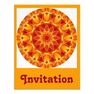 Sun anaranjado invitaciones personalizada