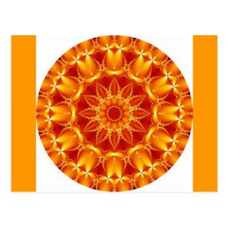 Sun anaranjado tarjetas postales