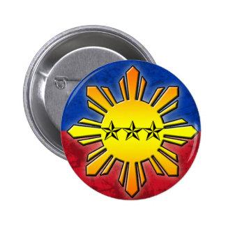 Sun and 3 Stars Pinback Button